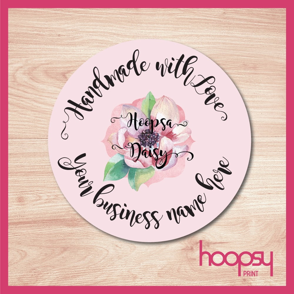 Handmade with love logo Sticker - Hoopsy