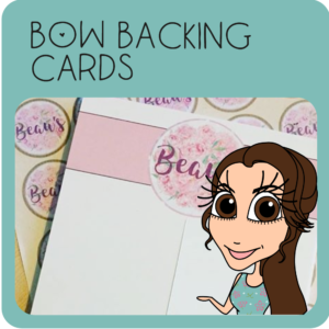 Bow Backing Cards